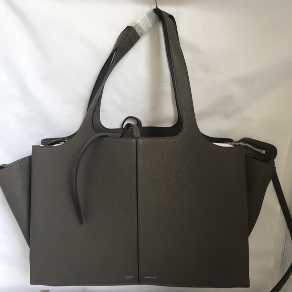 ab7482b6c99e Celine Handbags - Céline Tri-Fold St Grained 17883 Gray Leather Tote